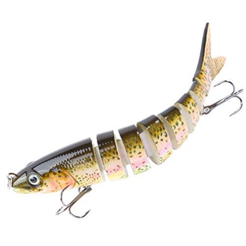 CLISPEED Señuelos de Pesca Realistas Artificiales Cebos de Pescado de Lentejuelas con Anzuelo para Agua Dulce Agua Salada Trucha Pequeña Pesca de Perca Estilo de Pesca 2