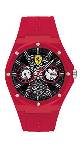 Scuderia Ferrari Reloj Cosa análoga para de los Hombres de Cuarzo con Correa en Silicona 830786
