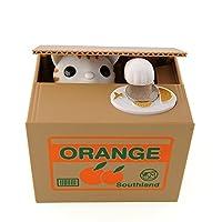 Diese Spardose braucht 2 x AA Batterien. (nicht enthalten) Perfektes Geschenk für Kinder bei Feiertag, Geburtstag, Weihnachten, Staffelung usw. Aus premium ABS-Kunststoff und elektronische Komponente hergestellt, wird die Spardose sehr robust und dau...
