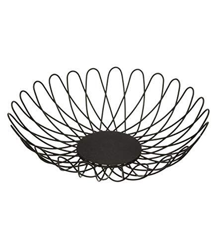 Corbeille à fruit - D 28 cm - Fer - Noir
