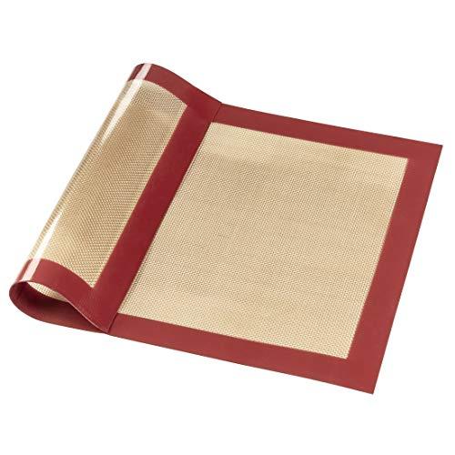 Xavax Tapis à pâtisserie (en silicone, rectangulaire, taille de 40 x 30cm) Rouge/Marron