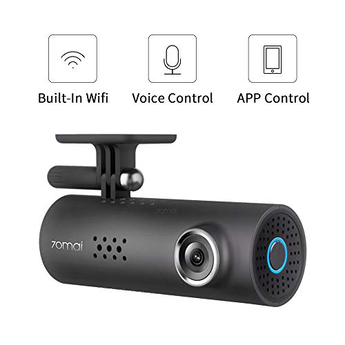 Dash Cam,1080P 70mai 1S Car Video, 130° Wide Angle On-Dash Cameras, Built-in WiFi Dash Camera, G-Sensor Emergency Recording, APP Control, Night Vision, Loop Recording, Voice Control