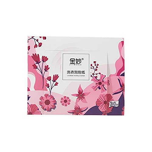 WANGXIU Pastillas y detergentes para Ropa Hojas de detergente de lavandería sin Aroma (30 Cargas) El Ideal hipoalergénico Viajes/Uso doméstico (Color : 1pcs)
