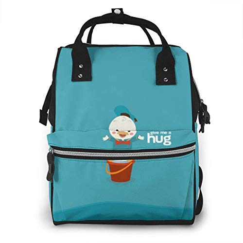 NHJYU Sac à langer Sac à dos - Give Me A Hug Donald Duck Multifunction Waterproof Travel Sac à dos Maternity Baby Nappy Changing Bags