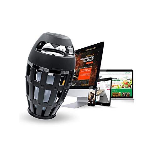 HONGSHENG Torche Lumière Bluetooth Haut-Parleur De Lumière De Flamme I3 Mini