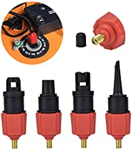 Alon Inflatable SUP Pump Adaptor with Standard Conventional Air Multi-Valve Attachment, SUP Pump Adaptor Compressor Air Valve Converter with 4 Air Valve Nozzles for Boat, Paddle Board, Bed, Etc