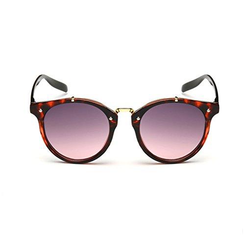 QHGstore Hombres Mujeres Nuevas gafas de sol al aire libre UV400 de conducción espejo Gafas Red pattern/purple