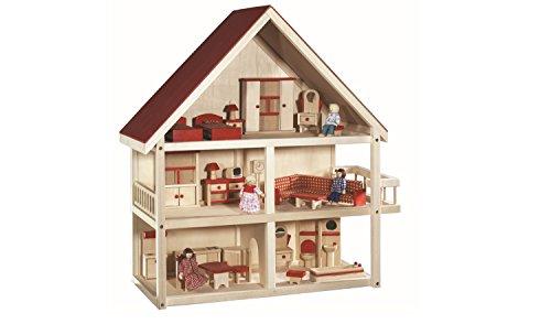 roba Puppenhaus, Puppenvilla inkl. Möbel und...