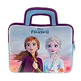Disney Frozen 2 - Funda de neopreno universal para niños con diseño de Frozen 2, adecuada para tablets de 8 a 10 pulgadas (Fire 7 Kids Edition, Fire HD 8), cremallera resistente