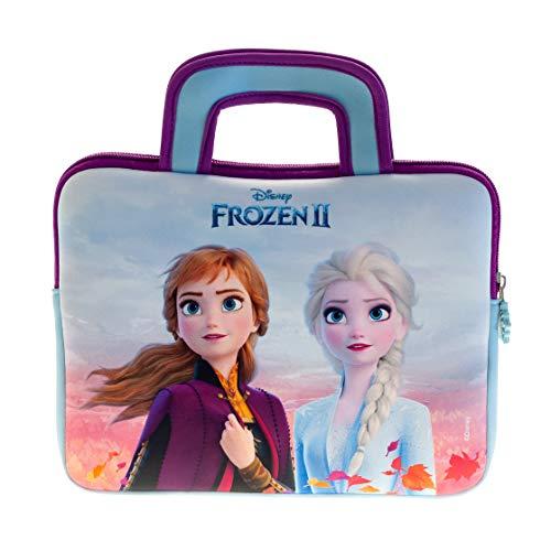 """Disney Frozen 2 Tragetasche - Universell einsetzbare Neopren Kinder Tasche mit Die Eiskönigin 2-Motiv, geeignet für 8"""" - 10"""" Tablets (Fire 7 Kids Edition, Fire HD 8), robuster Reißverschluss"""