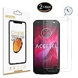 Accetel Verre trempé Remplacement pour Motorola Moto Z2 Force Film Protection ecran Protecteur d'écran en Verre...