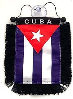 PRK 14 Cuban Cuba Flags for Cars Automobile Sticks to ur Glass Window Quality Made Cuban car Flags