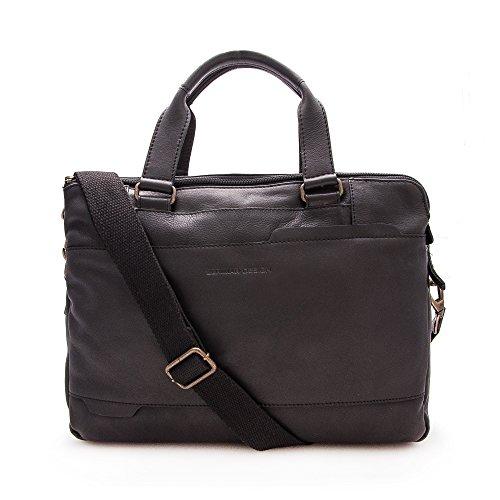 Zerimar Aktentasche Leder | Umhängetasche Leder | Messenger Bag | Satchel Bag | Leder Messenger Bag | Vintage Aktentasche | Massnahmen: 28x38x9 cm
