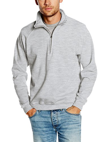Fruit of the Loom Ss108m Sudadera, Gris (Heather Grey), X-Large (Talla del Fabricante: X-Large) para Hombre