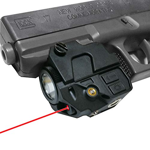 Dycoo Tactical Red Laser Sight ,Flashlight Combo Fit Standard Picatinny Rail or Weaver Accessory Rail, Magnetic Charging Red Dot Laser with Build-in Battery for Pistols Rifles Handguns