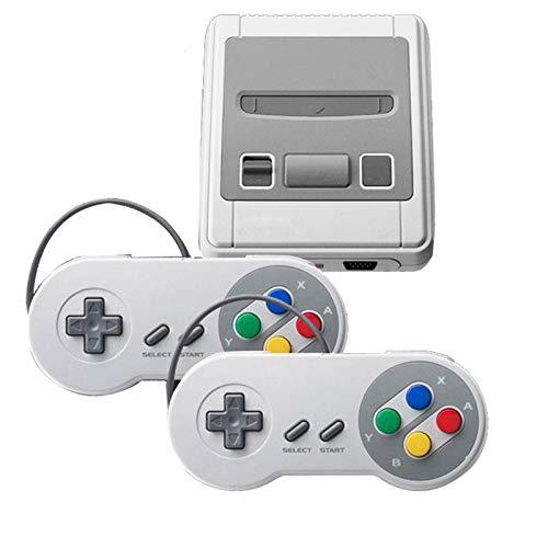 ADJU Retro-Spielekonsole TV Integrierte 620 Spiele, Klassische Mini-Retro-Spielekonsole mit 2 Controllern, Handheld-Spielekonsole für Familienfernsehen HDMI HD