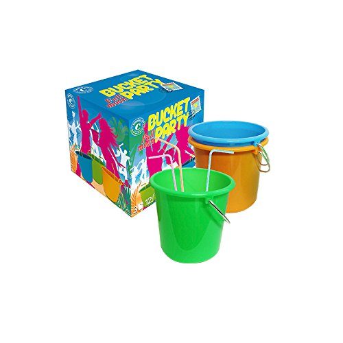 Original Cup Coffret Full Moon Party - 3 Buckets de 1,5L - 12 Pailles Fluo Multicouleur