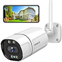 Outdoor Security Camera, Home Security Camera with WiFi Color Night Vision, 2K/3MP IP Camera with Human & Motion Detection, 2-Way Audio, IP66 Waterproof, Support iOS/Android/PC (Wired Powered)