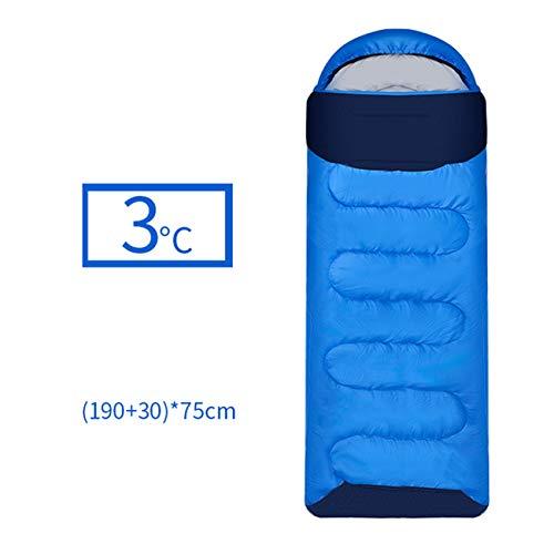 LIANGJING Geschikte temperatuur 3 °C koude reisslaapzak Buiten vuile slaapzak Kan worden gesplitst Waterafstotend