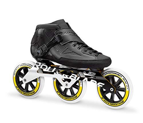 Rollerblade Powerblade Pro 125 Adult Fitness Inline Skate, Black, Size 9
