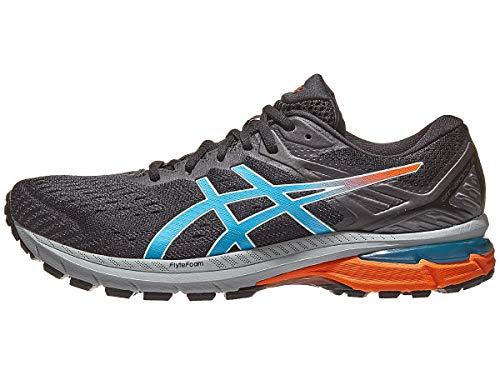 ASICS Men's GT-2000 9 Trail Running Shoes, 7.5M, Black/Digital Aqua