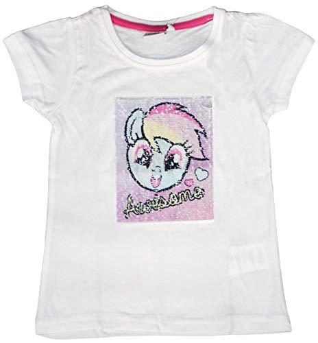 MLP Mädchen T-Shirt Gr. 4 Jahre, weiß