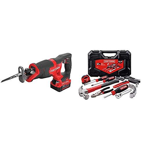 CRAFTSMAN V20 Reciprocating Saw Cordless Kit with Mechanics Tools...