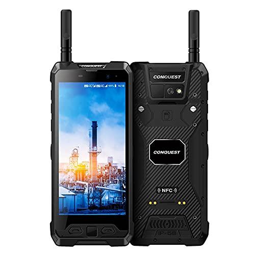 CONQUEST S19 Smartphone Resistente, DMR y U/VHF, escáner de código de Barras, imágenes térmicas Opcionales, batería de 9000 mAh, Desbloqueado(Termómetro infrarojo,...