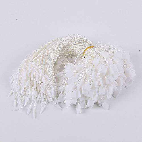 Cuerda de nailon para colgar etiquetas Sentise, 200 unidades, desechables, color negro,...