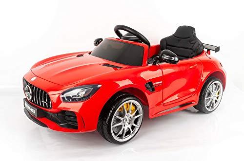 Devessport - Coche eléctrico para niños con Mando de Control Remoto - Mercedes GTR Rojo - Coche teledirigido con batería - Ideal para niños de 3 a 8 años (máximo 30 Kg) - Medidas: 102 x 62 x 53 Cm