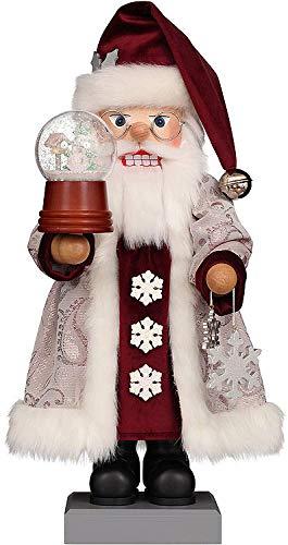 Amazon Com Christian Ulbricht Nutcracker Santa Snow Globe 47 Cm 18 5 Inch Home Kitchen
