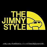 ジムニー 3代目JB23/JB33/JB43系ステッカー THE JIMNY STYLE【カッティングシート】パロディ(12色から選べます) (黄色)