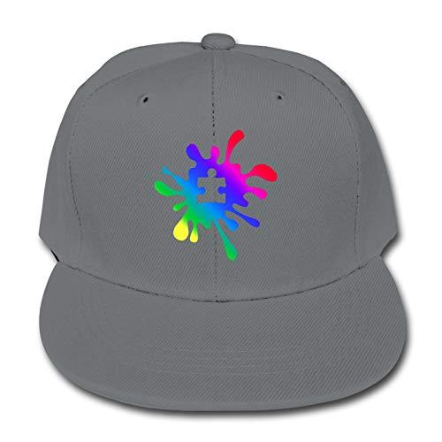 WoodWorths Autism Rainbow Puzzle Splatter Adjustable Baseball Cap Hip-Hop Hat Boy's Girl Kids Solid Color