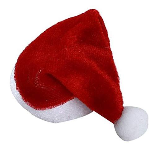 Kaned - Juego de 10 fundas para botellas de Papá Noel, para decoración de Navidad