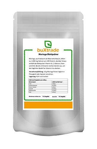 Moringa Leaf Powder | Horseradish Tree |Moringa| Powder| Crudités Various Sizes - 100 G (EUR 2,50/100 G