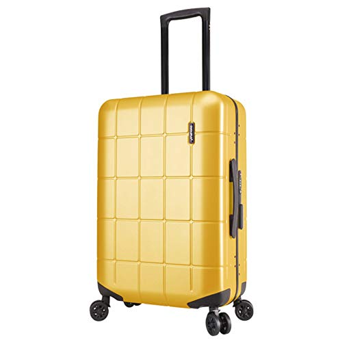 Adlereyire Trolley Suitcase Lightweight Durable Carry On Cabin Hand Luggage Set, Travel Bag with 4 Wheels (Color : Yellow, Size : 44 * 24 * 70cm)