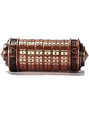 ACELEY Da Vinci Code Mini Cryptex Lock, Da Vinci Code Combinatieslot Romantische Gift Accessoires Geschikt voor Vriendje en Vriendin Brain Teaser Lock Puzzels (Groen Brons)