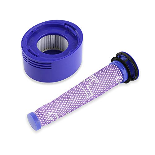 Prefiltros Compatible con Dyson Filtro de vacío, Filtro de reemplazo Lavable, Pre y Post Filtros Filtro de Repuesto Filtro HEPA Motor de Dyson V7 V8 Aspiradora