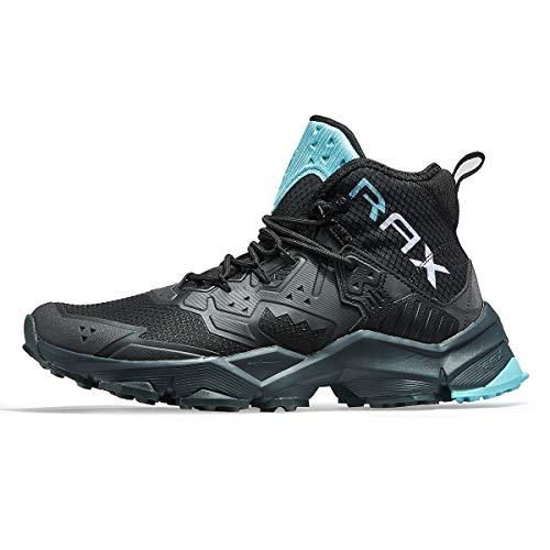 RAX Herren Dämpfung Wanderstiefel Outdoor Leichte Schuhe Rucksackreisen Trekking Trails, Schwarz (schwarz), 40 EU