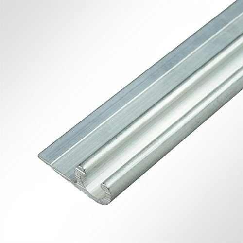 LYSEL® Kederschiene 16x40mm blank 3m Grau Ø12mm für Keder 8,5-11mm