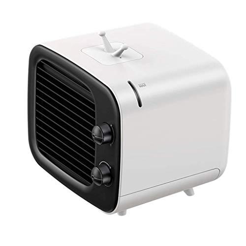XPfj Refrigeradores evaporativos Mini aire acondicionado ABS 180 x 164 x 158 mm refrigeración portátil ventilador de refrigeración USB (Color: Azul) (Color: Negro)