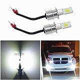 WLJH 2 Pack H3 LED Fendinebbia Lampadina ad alta potenza 72W Auto LED Lampadina 12V 24V Ca...