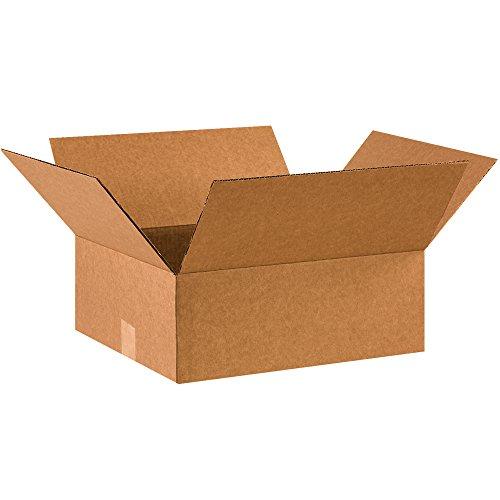 "BOX USA B1614675PK Flat Corrugated Boxes, 16"" L x 14"" W x 6"" H, Kraft (Pack of 75) Arkansas"