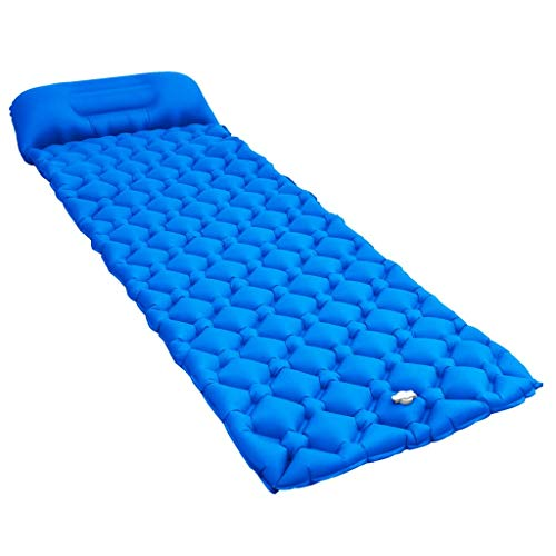 BBalm Colchoneta inflable con almohada 58x190cm Azul
