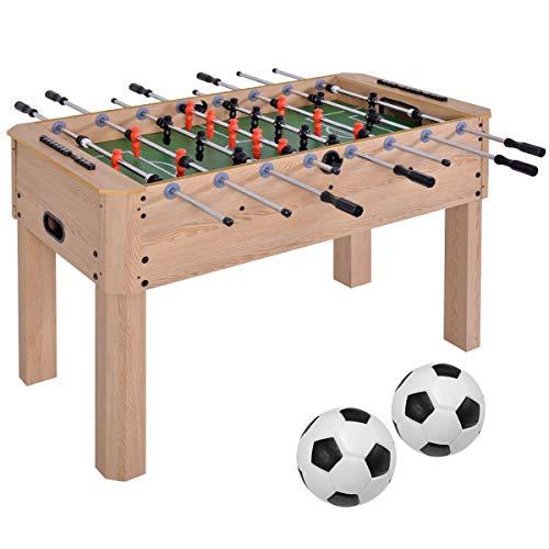 BLUE HAWAII Standard Fußballtisch, Kickertisch mit höhenverstellbaren Tischbeinen, schadstoffgeprüft,137 X 67 X 86cm, 30kg Tischkicker