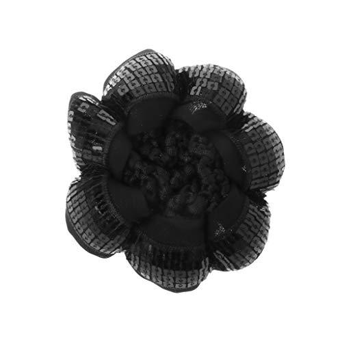 VIccoo haarband, schattig meisjes pailletten broodjes, haarnet voor danseres kinderen, broodjes, afdekking haarsieraad Dancewear - zwart