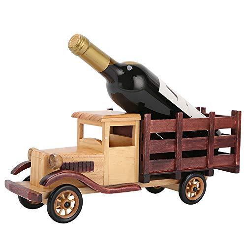 DYOYO Botellero Madera Estante con de Botellas de Vino Pequeño Soporte para Ideal para Frigorífico Despensa o Armarios de Adecuado para Sala de Estar Dormitorio Restaurante Bar KTV