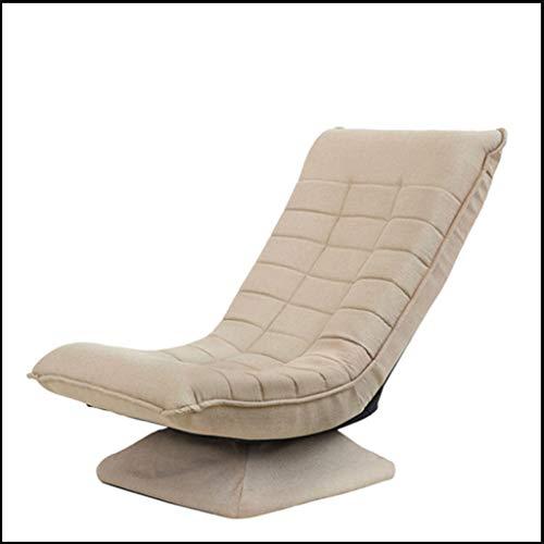 DUOER-Klappstühle Hoher Rückenschwenk-Bürostuhl aufgefüllt mit justierbarer Neigung-Spannung, großer Sitz-stützender Computer-Schreibtisch-Stuhl, ergonomisches Design (Color : Beige)