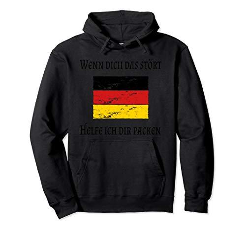 Patriotismus ist kein Verbrechen Starkes Deutschland Flagge Pullover Hoodie