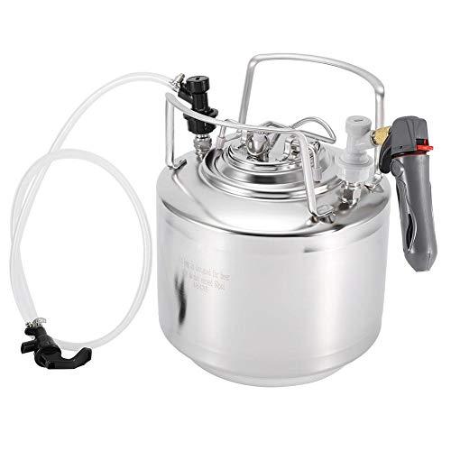 Ccylez Barril de Cerveza con Grifo, Kit dispensador de hervidor de Cerveza casero de Acero Inoxidable Almacenamiento de Cerveza con fácil Limpieza, Ideal para fermentar(6L)